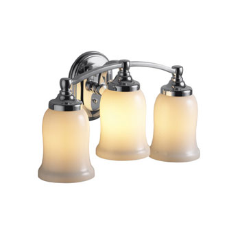 Kohler K-11423-SN Bancroft Triple Wall Sconce - Vibrant Polished Nickel (Pictured in Chrome)