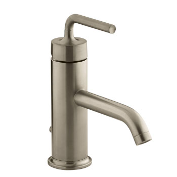 Kohler K-14402-4A-BV Purist One Handle Lavatory Faucet - Brushed Bronze