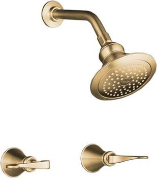 Kohler K-16214-4-BV Revival Two Handle Shower Only Faucet - Brushed Bronze