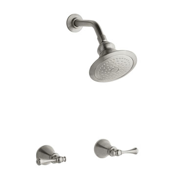 Kohler K-16214-4A-BN Revival Two Handle Shower Only Faucet - Brushed Nickel