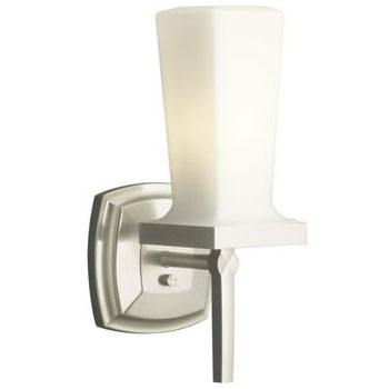 Kohler K-16268-BV Margaux Single Wall Sconce - Brushed Bronze (Pictured in Brushed Nickel)