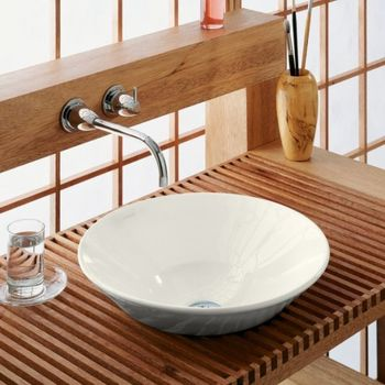 Kohler K-2200-G9 Conical Bell Vessels Lavatory - Sandbar (Pictured in Biscuit)