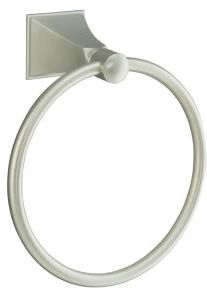 Kohler K-487-BN Memoirs Modern Stately Design Towel Ring from Memoirs Collection - Brushed Nickel