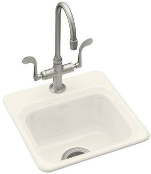 Kohler K-6579-2-7 Northland Self-Rimming Entertainment Sink With 2-Hole Faucet Drilling - Black (Pictured in Biscuit)