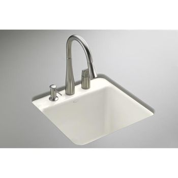 Kohler K-6655-2U-96 Park Falls Self Rimming Utility Sink - Biscuit (Faucet and Accessories Not Included)