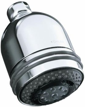 Kohler K-8507-CP MasterShower Three Function Shower Head Only - Polished Chrome