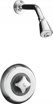 Kohler K-T6910-4A-CP Triton Rite-Temp Pressure-Balancing Shower Faucet Trim - Polished Chrome