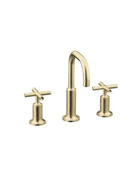 Kohler K-14406-3-BN Purist Widespread Lavatory Faucet - Brushed Nickel