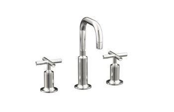 Kohler K-14406-3-SN Purist Widespread Lavatory Faucet - Polished Nickel