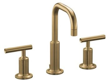 Kohler K-14406-4-BV Purist Widespread Lavatory Faucet - Brushed Bronze