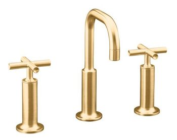 Kohler K-14407-3-BV Purist Widespread Lavatory Faucet - Brushed Bronze