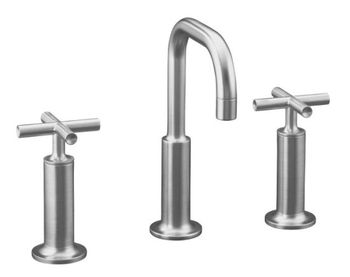 Kohler K-14407-3-G Purist Widespread Lavatory Faucet - Brushed Chrome
