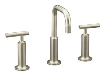 Kohler K-14407-4-BN Purist Widespread Lavatory Faucet - Brushed Nickel