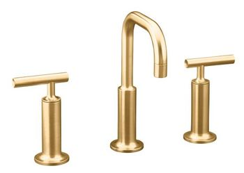 Kohler K-14407-4-BV Purist Widespread Lavatory Faucet - Brushed Bronze