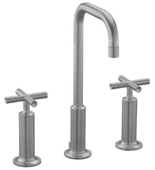 Kohler K-14408-3-G Purist Widespread Lavatory Faucet - Brushed Chrome
