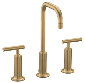 Kohler K-14408-4-BV Purist Widespread Lavatory Faucet - Brushed Bronze