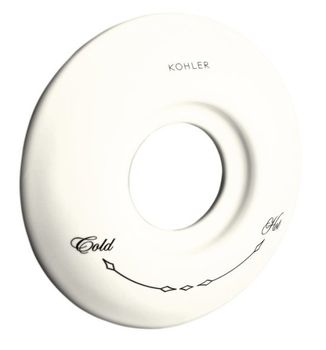 Kohler K-10140-96 Thermostatic Ceramic Escutcheon - Biscuit