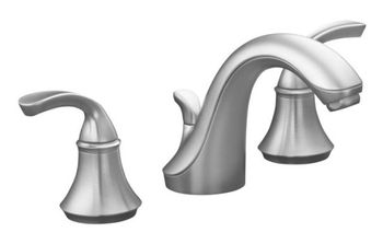 Kohler K-10272-4-G Fort� Widespread Lavatory Faucet with Sculpted Lever Handles - Brushed Chrome