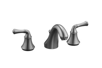 Kohler K-10272-4A-G Fort� Widespread Lavatory Faucet with Traditional Lever Handles - Brushed Chrome