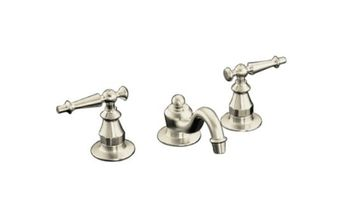 Kohler K-108-4-BN Antique Widespread Lavatory Faucet - Brushed Nickel
