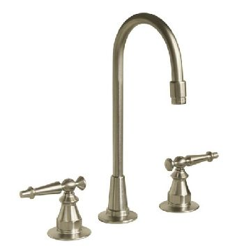 Kohler K-118-4-BN Antique Entertainment Sink Faucet w/Lever Handles - Brushed Nickel