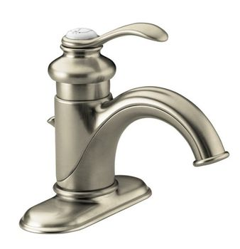 Kohler K-12181-BN Fairfax Single Handle Lavatory Faucet - Brushed Nickel