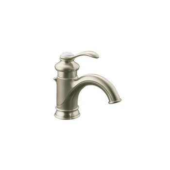 Kohler K-12182-BN Fairfax Single Control Lavatory Faucet with Lever Handle - Brushed Nickel
