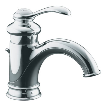 Kohler K-12182-CP Fairfax Single Control Lavatory Faucet with Lever Handle - Polished Chrome