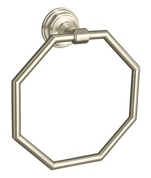 Kohler K-13112-BN Pinstripe Towel Ring - Brushed Nickel