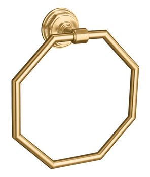 Kohler K-13112-BV Pinstripe Towel Ring - Brushed Bronze