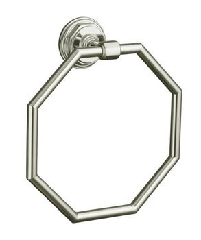 Kohler K-13112-SN Pinstripe Towel Ring - Polished Nickel