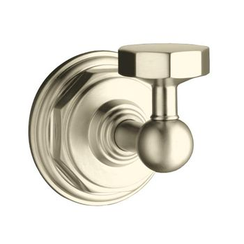Kohler K-13113-BN Pinstripe Robe Hook - Brushed Nickel