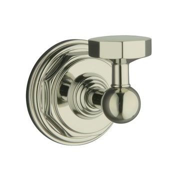 Kohler K-13113-SN Pinstripe Robe Hook - Polished Nickel