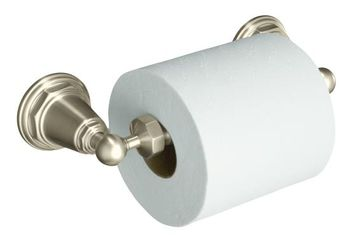 Kohler K-13114-BN Pinstripe Toilet Tissue Holder - Brushed Nickel