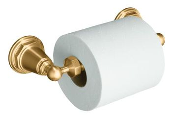 Kohler K-13114-BV Pinstripe Toilet Tissue Holder - Brushed Bronze