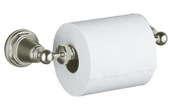 Kohler K-13114-SN Pinstripe Toilet Tissue Holder - Polished Nickel