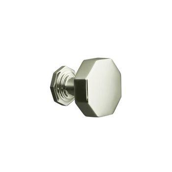 Kohler K-13126-SN Pinstripe Cabinet Knob - Polished Nickel
