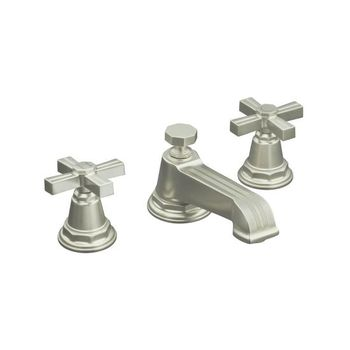 Kohler K-13132-3B-BV Pinstripe Pure Widespread Lavatory Faucet with Metal Cross Handles - Brushed Bronze (Pictured in Brushed Nickel)