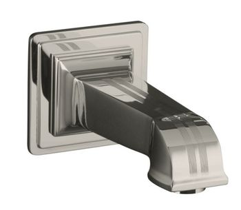 Kohler K-13139-B-BV Pinstripe Wall Mount Bath Spout - Brushed Bronze (Pictured in Polished Nickel)
