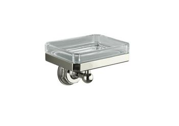 Kohler K-13145-BN Pinstripe Soap Dish - Brushed Nickel (Pictured in Polished Nickel)