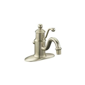 Kohler K-138-BN Antique Single Control Lavatory Facuet - Brushed Nickel