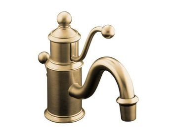 Kohler K-139-BV Antique Single Control Lavatory Facuet - Brushed Bronze