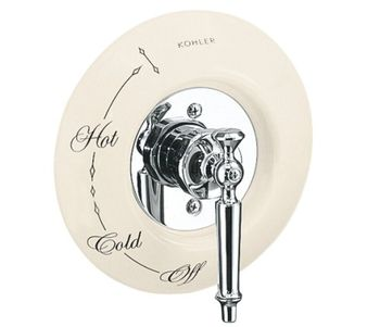 Kohler K-146-47 Ceramic Dial Plate - Almond (Pictured w/Valve Trim - Not Included)