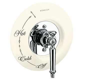 Kohler K-146-96 Ceramic Dial Plate - Biscuit (Pictured w/Valve Trim - Not Included)