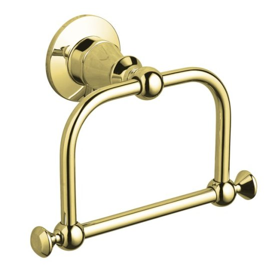 Kohler K-208-PB Antique Towel Ring - Polished Brass - FaucetDepot.com