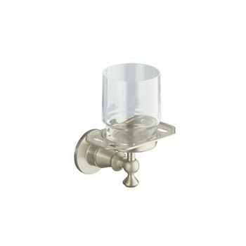 Kohler K-212-GD-BV Antique Tumbler and Toothbrush Holder - Brushed Bronze (Pictured in Brushed Nickel)