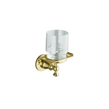 Kohler K-212-GD-PB Antique Tumbler and Toothbrush Holder - Polished Brass