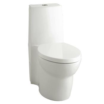 Kohler K-3564-0 Saile Elongated One-piece toilet with Dual Flush Technology - White