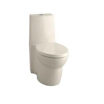 Kohler K-3564-7 Saile Elongated One-Piece Toilet with Dual Flush Technology - Black (Pictured in Almond)