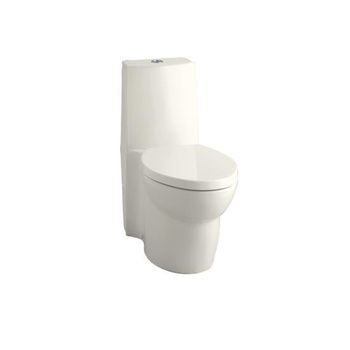 Kohler K-3564-96 Saile Elongated One-Piece Toilet with Dual Flush Technology - Biscuit